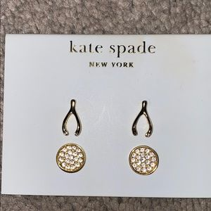 Kate spade pave disc stud set